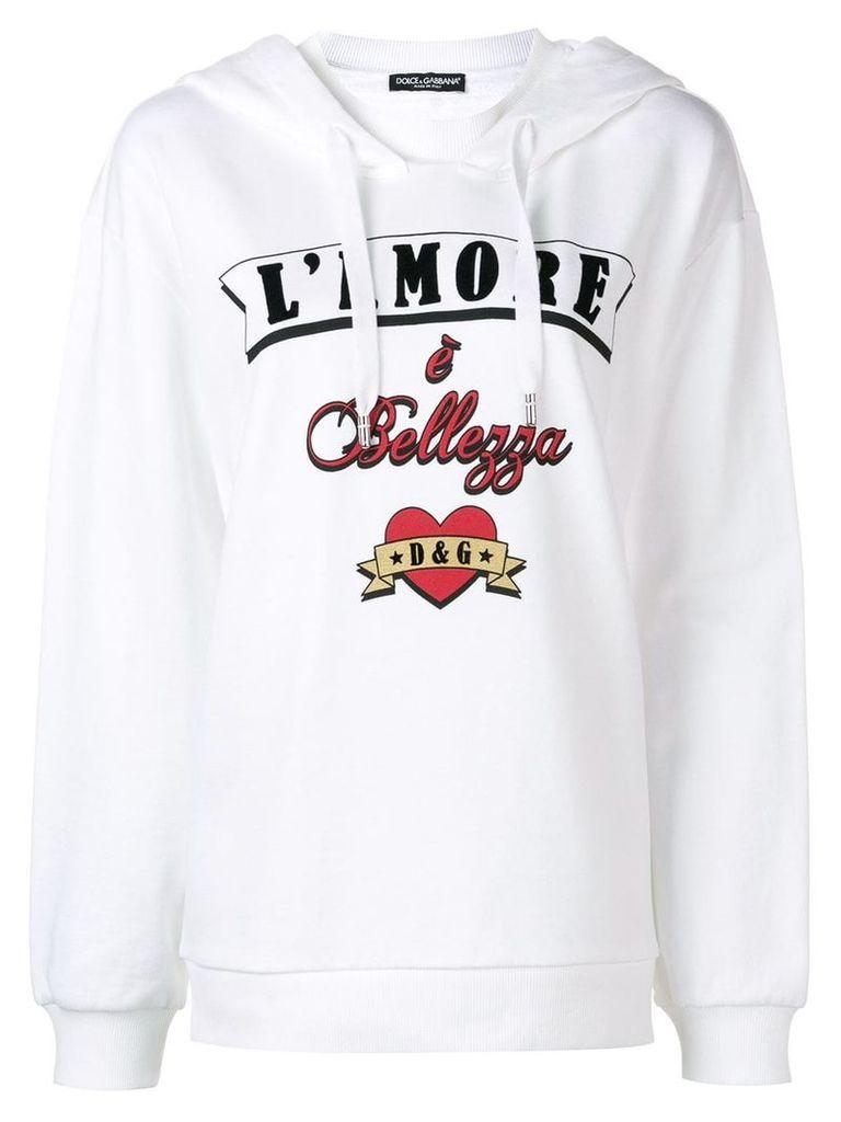 Dolce & Gabbana 'L'Amore è Bellezza' hoodie - White
