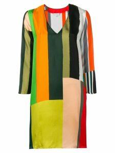Pierre-Louis Mascia striped long-sleeve dress - Green