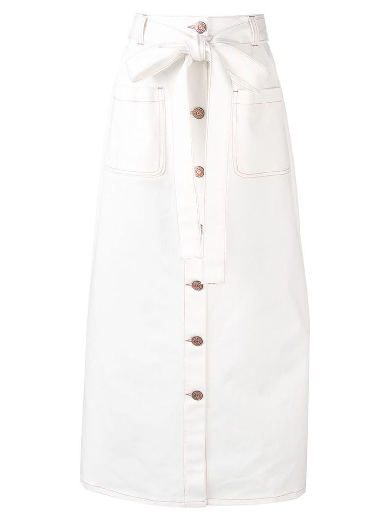 See By Chloé straight denim skirt - White