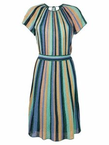M Missoni striped midi dress - Blue