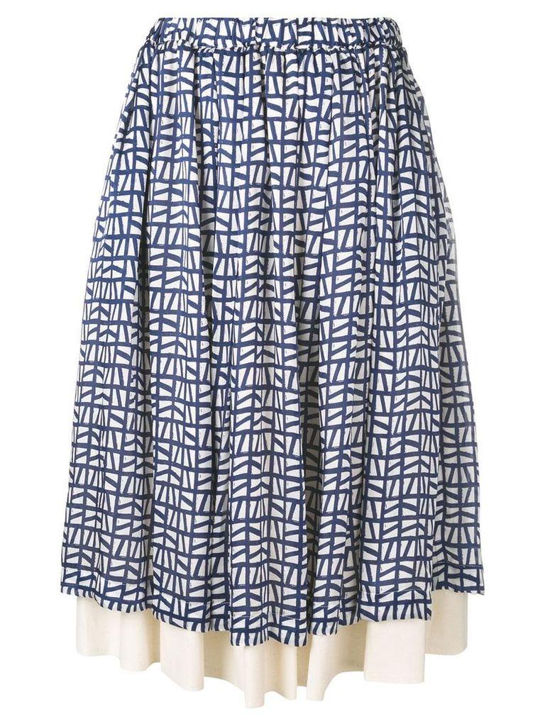 Comme Des Garçons Comme Des Garçons layered skirt - Blue