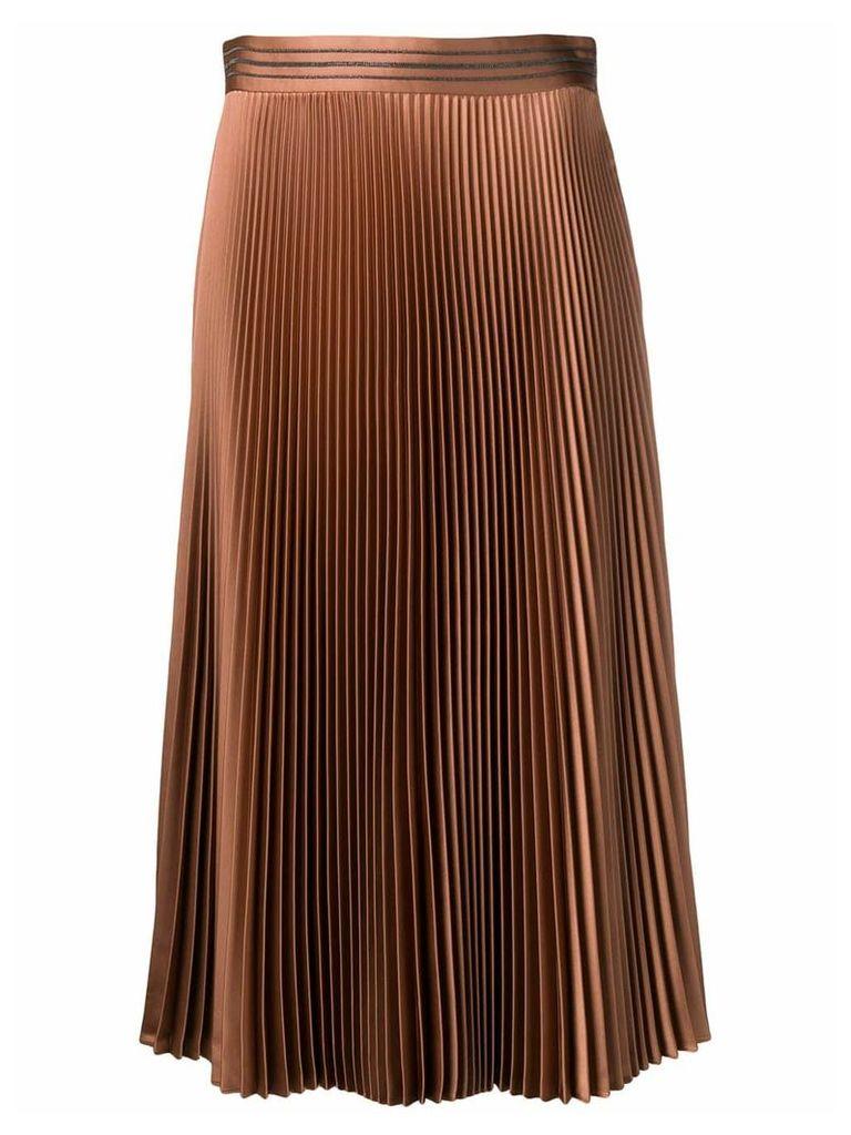 Brunello Cucinelli pleated skirt - Brown