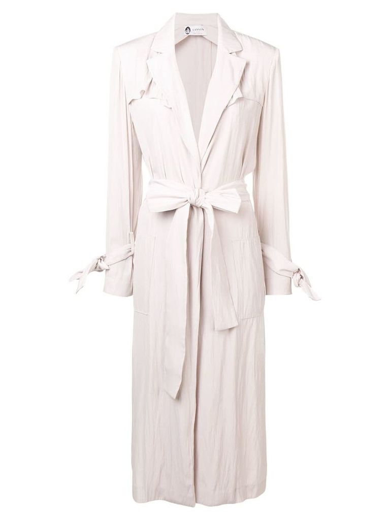 Lanvin belted trench coat - Pink