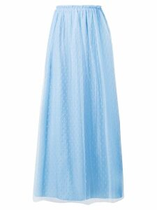 Red Valentino point d'esprit tulle skirt - Blue