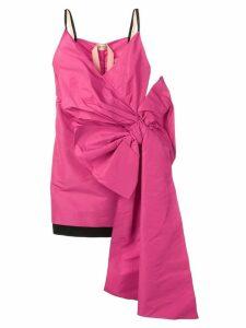 Nº21 bow detail mini dress - Pink