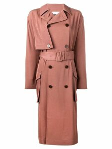Acne Studios double breasted trench coat - Brown