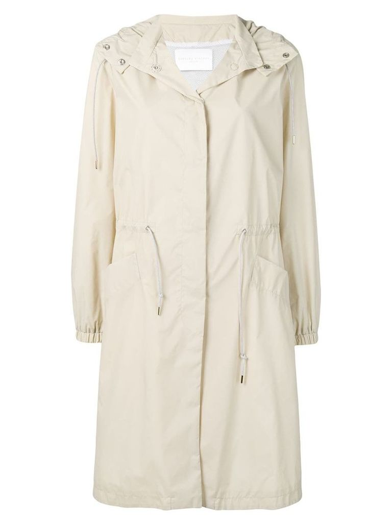 Fabiana Filippi hooded raincoat - Neutrals