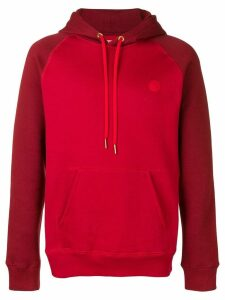 Acne Studios two-tone hoodie - Red
