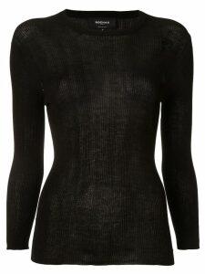 Rochas ribbed knit jumper - Black