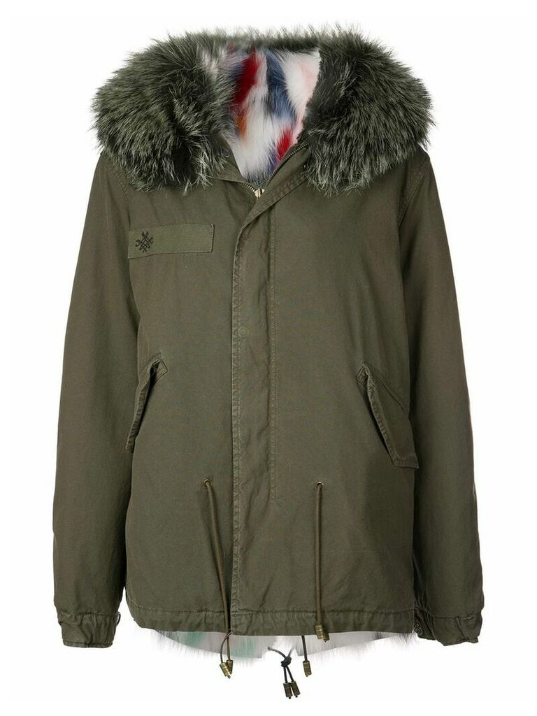 Mr & Mrs Italy fur-trim hooded parka coat - Green