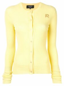 Rochas ribbed knit cardigan - Yellow