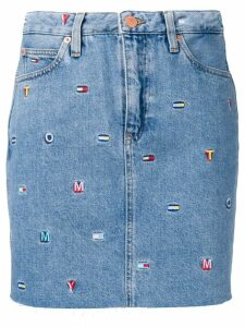 Tommy Jeans embroidered logo denim skirt - Blue