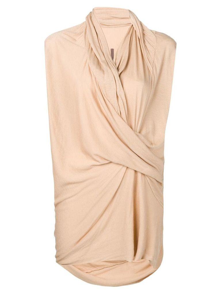 Rick Owens Lilies knot detail T-shirt - Neutrals