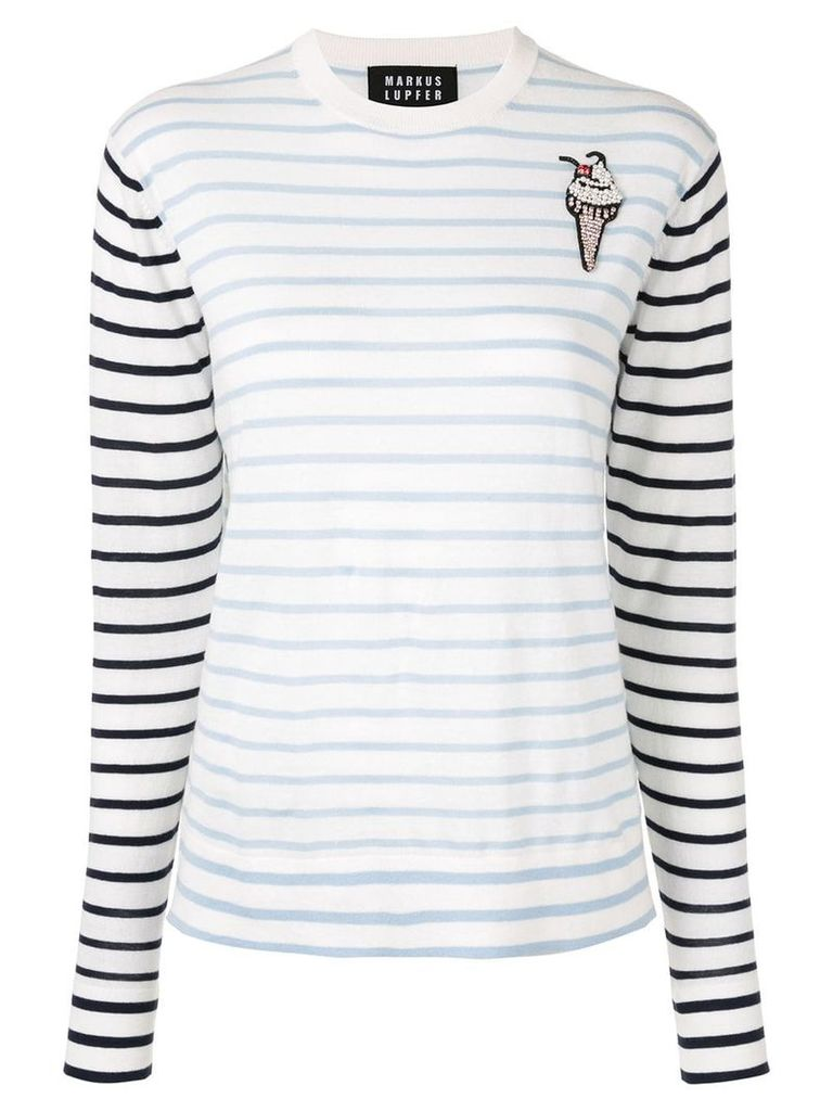 Markus Lupfer striped jumper - White