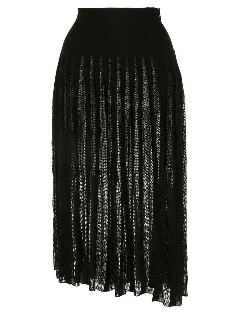 Sonia Rykiel pleated knit skirt - Black