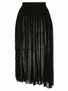 Sonia Rykiel pleated knit skirt - Black