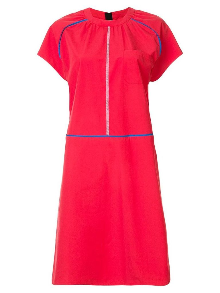 Marni short sleeve dress - Red