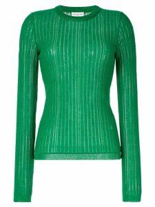 Sonia Rykiel perforated knit jumper - Green