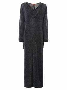 Missoni metallic-effect hooded long dress - Black