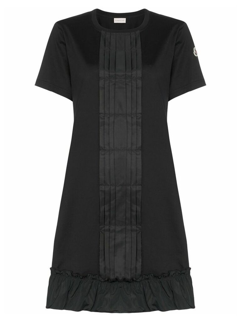 Moncler ruffle detail dress - Black