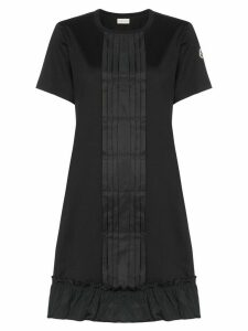 Moncler ruffle detail dress - Black