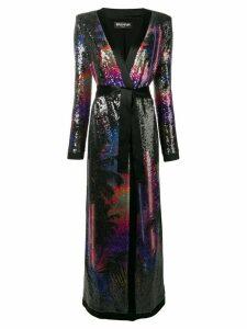 Balmain sequin embellished long kimono - Black