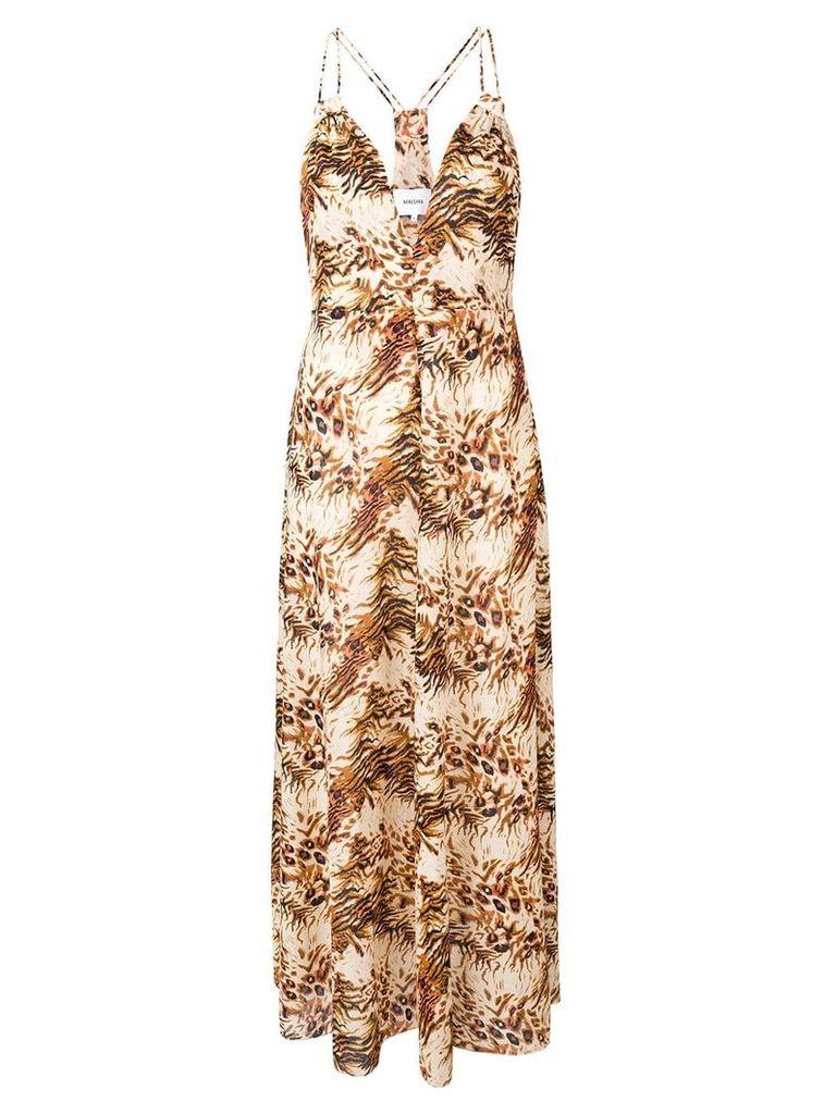 Nanushka Eden animal print dress - Neutrals