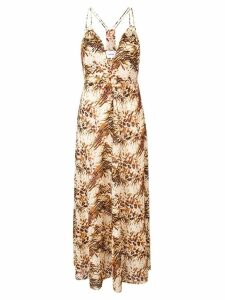 Nanushka Eden animal print dress - Neutrals