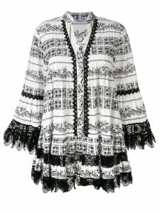 Blumarine lace detail short dress - White