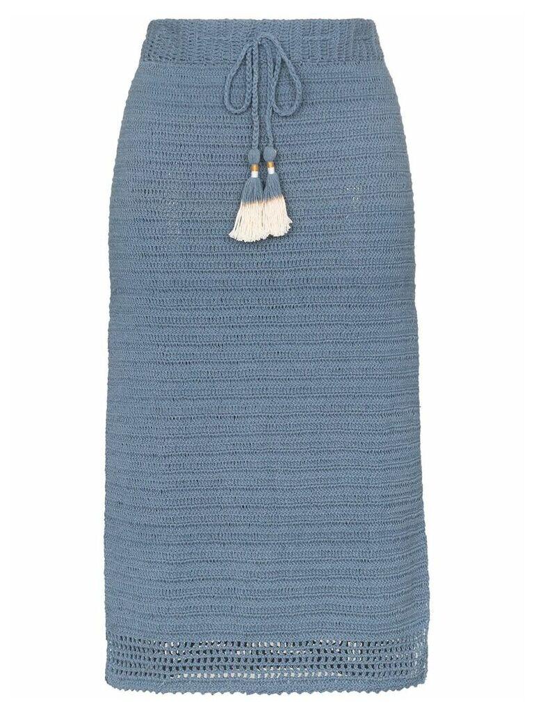 She Made Me Aahana crochet skirt - Blue