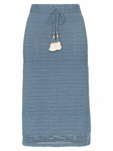 She Made Me Aahana crochet skirt - Blue