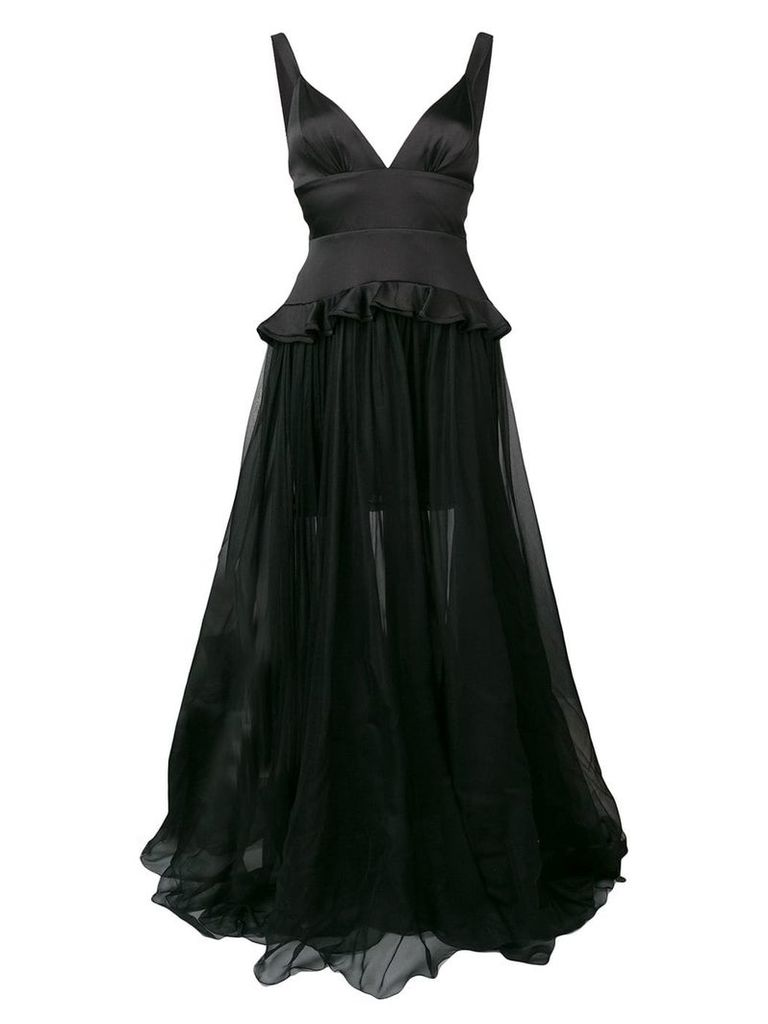Maria Lucia Hohan long Yasmina dress - Black