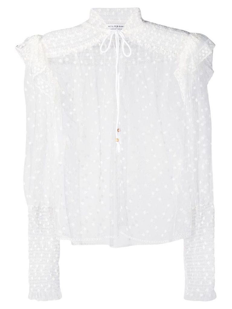 Philosophy Di Lorenzo Serafini polka dot sheer blouse - White