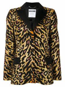 Moschino Tiger poplin blazer - Gold