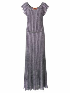 Missoni metallic-effect long dress - Purple