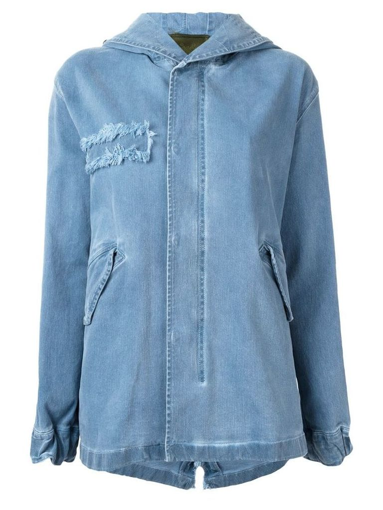 Mr & Mrs Italy hooded denim parka - Blue