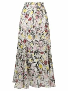 Erdem floral flared skirt - White