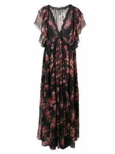Alberta Ferretti floral maxi dress - Black