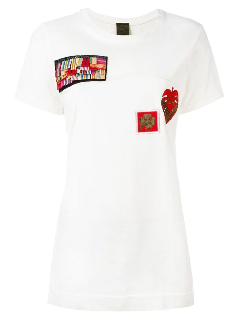 Mr & Mrs Italy multipatch T-shirt - White