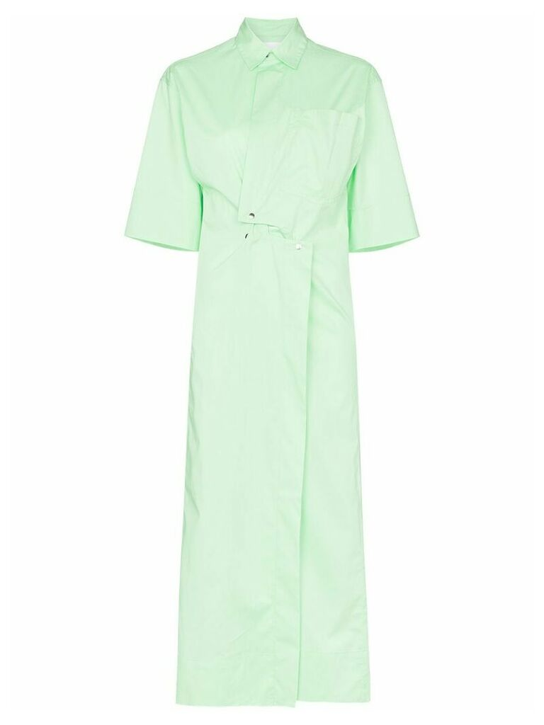 Markoo snap-button shirt dress - Green
