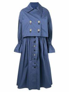 Eudon Choi Giovanna trench dress - Blue