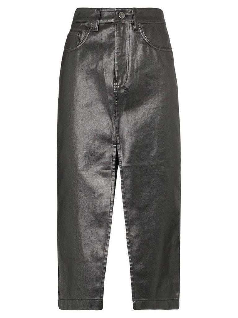 Ksubi slit detail pencil skirt - Black
