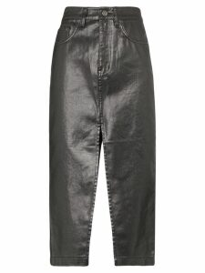 Ksubi slit detail pencil skirt - Black