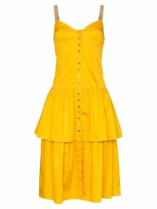 See By Chloé bustier tiered hem dress - Yellow
