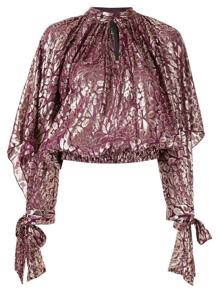 Romance Was Born floral metallic blouse - Purple