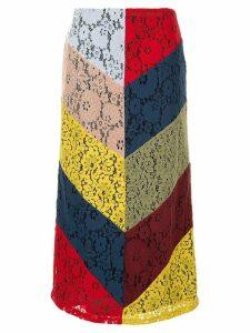 Romance Was Born Pre-Raphaelite Splice Skirt - Multicolour