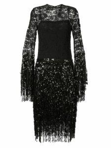 Romance Was Born Disco Dame midi dress - Black