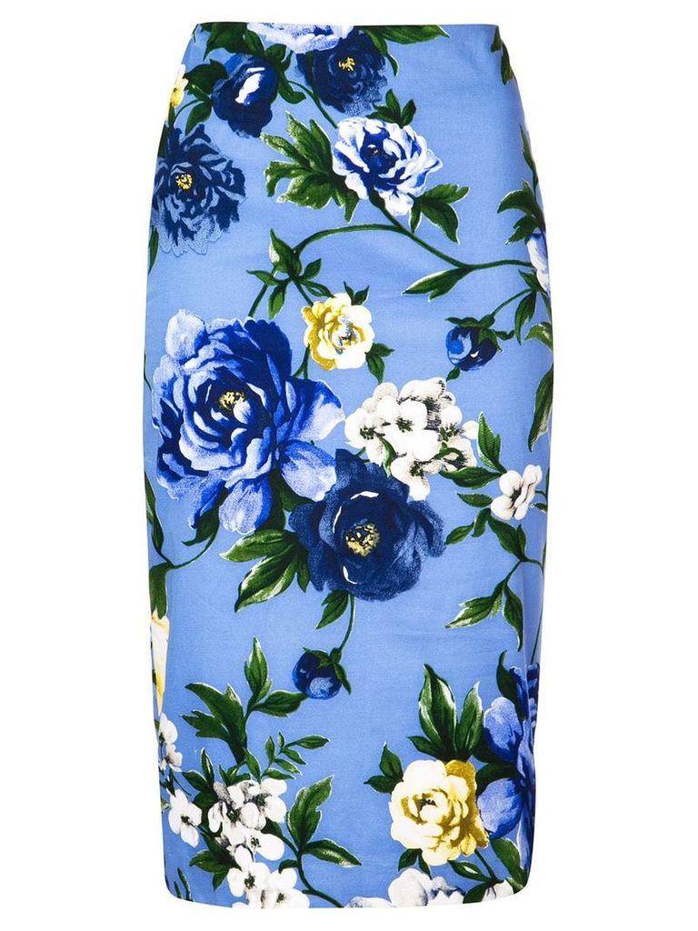 Samantha Sung Chloe floral skirt - Blue