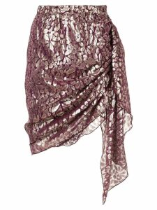 Romance Was Born Disco Paisley Wrap Skirt - Purple