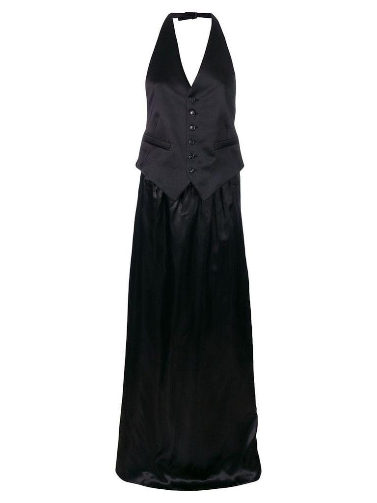 Mm6 Maison Margiela long waistcoat dress - Black